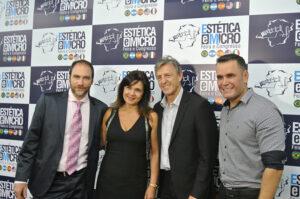 """Junto a los Dres. Ludmila Bonelli y Jones Agne en el Congreso Internacional """"Estética & Micro"""", Belo Horizonte, Brasil, 2018"""